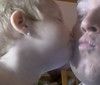 A kiss for Daddy