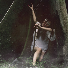 the nature of man (ken_pogs) Tags: white tree nature girl fog vintage university philippines land environment conceptual collaboration stardust blindfold whitelady conceptualphotography kenpogs marykennettecarlaesta