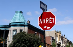 Classic Arrt Stop Sign in Montreal (ChrisGoldNY) Tags: travel urban signs canada architecture forsale mtl quebec montreal canadian stop stopsign albumcover bookcover montroyal qc frenchcanadian arrt ciy qubcois quebecois chrisgoldny chrisgoldberg chrisgold chrisgoldphotos