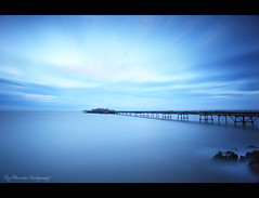 Timescape (pic fix) Tags: uk longexposure sea sky cloud motion colour building water beautiful skyline clouds landscape coast pier seaside movement moody view bare somerset landmark serene westonsupermare bristolchannel birnbeckisland