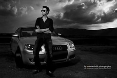 Born to be wild II (edouardv66) Tags: sunset man color nature car clouds switzerland nikon suisse geneva flash voiture vehicle a3 audi genve elinchrom strobist quadraranger