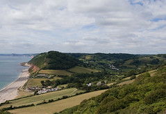 Looking up Branscombe Village (Alastair Cummins) Tags: beach coast nikon village cliffs devon valley 1855mm jurrasic branscombe d40