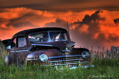 (ir guy) Tags: auto sunset storm art field car decay rusty jeremy sd abandon eden farmer holmes crusty stormclouds 2010 garageart jeremyholmes wwwirvisionscom