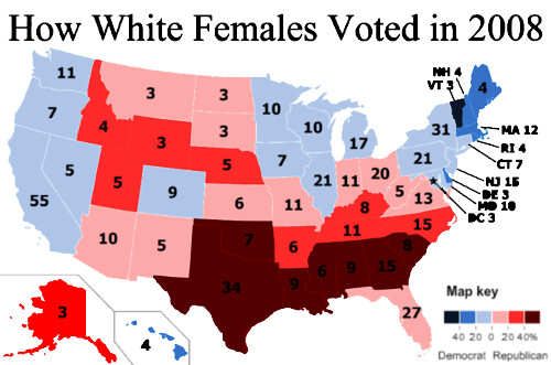 How White Women Voted in 2008