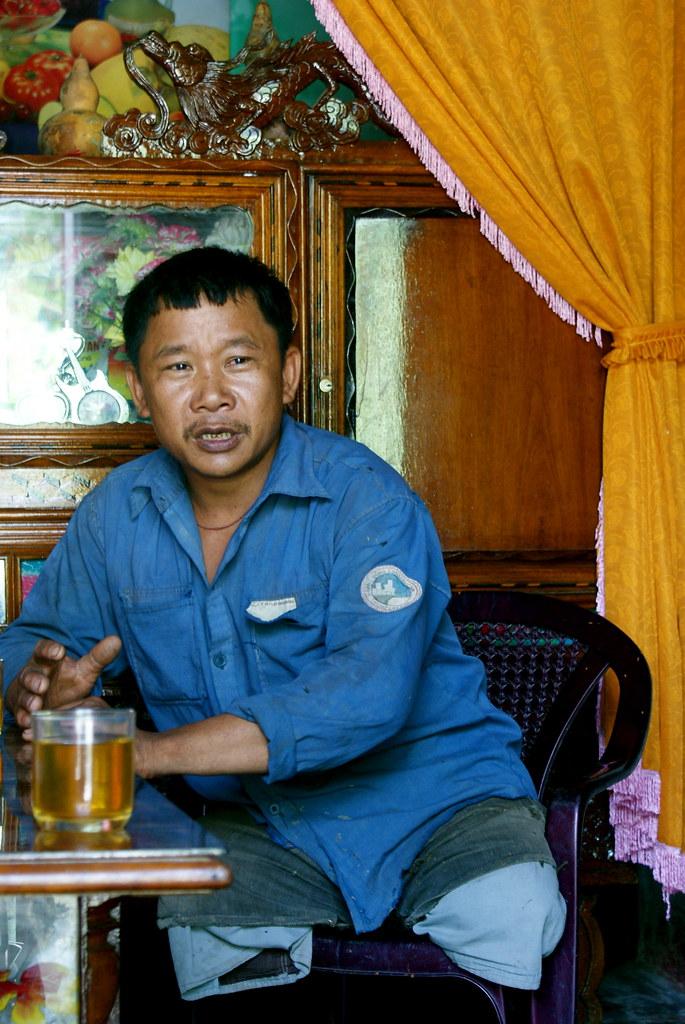 Mr. Tran Van Son, a  strong man and succesful carpenter