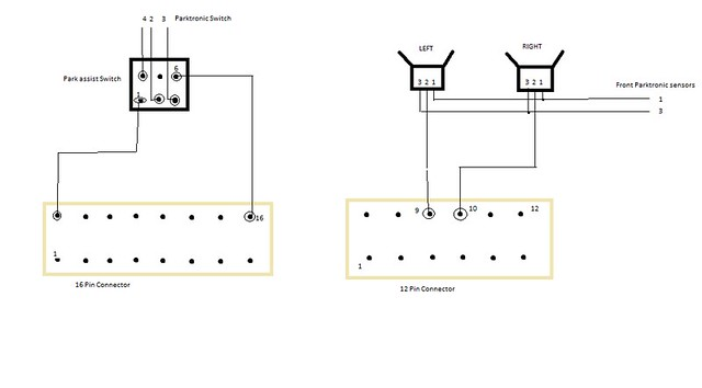vwvortex com park assist retrofit i think this diagram could help if you already have 8 ops sensors