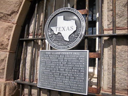 Llano County Jail, Llano, Texas Historical Marker by fables98