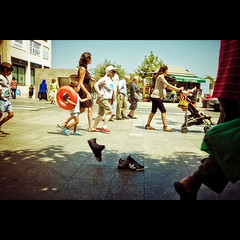 (Alvarictus) Tags: street people photoshop walking fun shoes gente walk invisible zapatos adidas ceuta