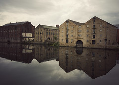 that redevelopment ive been talking about (matthewheptinstall) Tags: urban classic industry wool water reflections river scenic sigma wideangle symmetry change riverbank waterside wakey redevelopment sigma1020 rivercalder wakefieldwestyorkshire50dwyorkstones