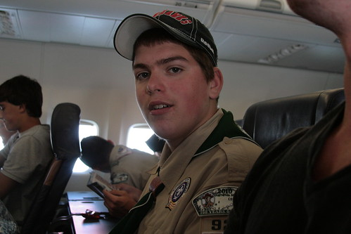 the boyscout on our flight