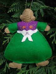 Back of Gingerbread Doll Ornament