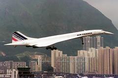 "F-BVFF Concorde ""Air France"" (Daryl Chapman Photography) Tags: hongkong fast rollsroyce landing concorde controltower kaitak supersonic fbvff runway13"