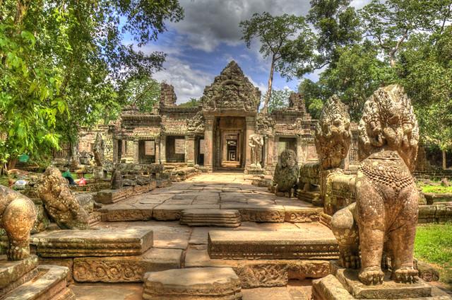 Angkor Wat Lined Path HDR