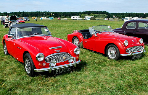 WOODVALE RALLY 2010 ~ AUSTIN HEALEY 3000 Mk.3 & TRIUMPH TR3.