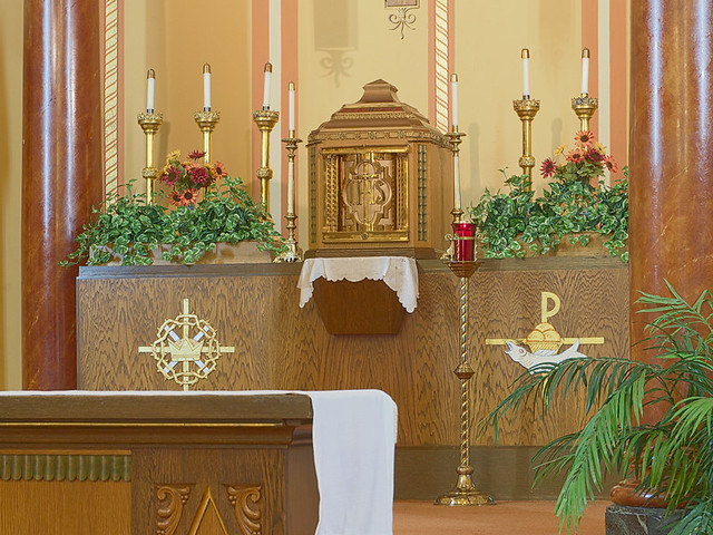 Saint Anthony Roman Catholic Church, in Lemay, Missouri, USA - tabernacle