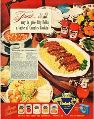 Finest... way to give city folks a taste of Country Cookin' (spuzzlightyeartoo) Tags: fruit corn ephemera ribs vintageadvertising
