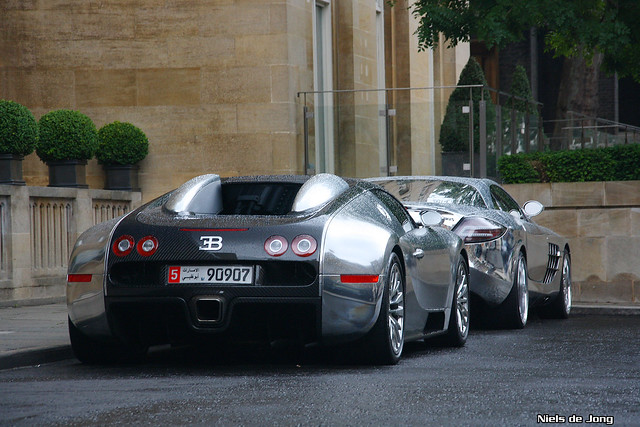 And Mercedes-Benz SLR McLaren, Brabus style. Both chrome!