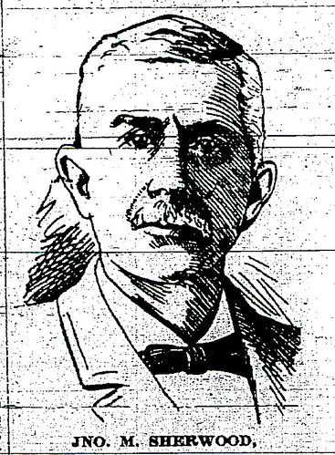 Jonathan M. Sherwood, President of Southwest Firemen's Association in 1908