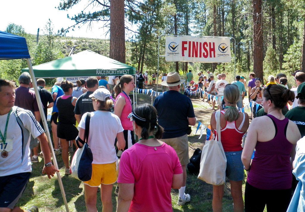 Finish Line and Post Race Meal - 2010 Haulin' Aspen Trail Marathon and 1/2 Marathon