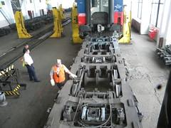 Gauge change in Brest, Belarus (Timon91) Tags: train border railway brest belarus trainamsterdammoscow