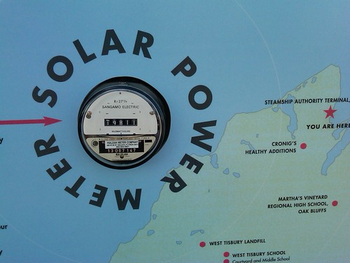 Solar power meter, Vineyard Haven, MA