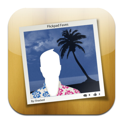 Flickpad 2.0 Icon - Flickr and Facebook on the iPad