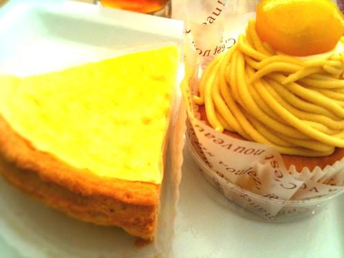 ふんわりチーズケーキとモンブラン