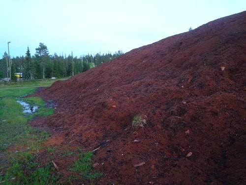 finland lapland ruka sawdust
