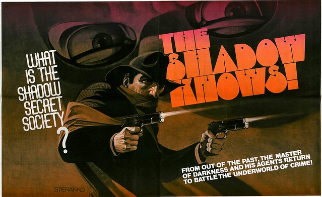 The Shadow Secret Society poster by Steranko 1975 MediaScene 14