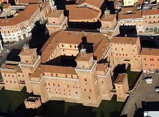 Castello estense dall'alto