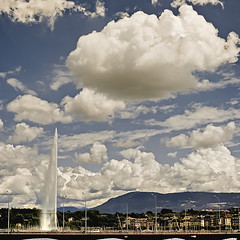 The Cloud of Unknowing (mr.KIO) Tags: sky fountain clouds switzerland nikon jetdeau d300 pontdumontblanc genevagenf