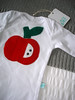 baby boy apple onesie 2
