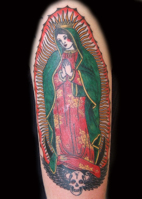 Old School Virgen de Guadalupe Tattoo. Paulo Madeira