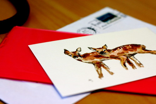 Wednesday: Watercolour Deer
