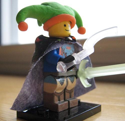 Ulfrik Greencap custom minifig jester knight