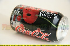 Soda Can Study 658 2010-08-14 Cherry Coca Cola Zero 12oz can (Badger 23 / jezevec) Tags: pictures advertising cherry aluminum soft beverage can drinks american packaging products soda cocacola zero refrigerante fizzy consumer reference 20