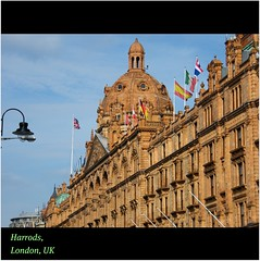 Harrods, London, UK : A glittering : ICON : beautiful facade for ONE OF THE WORLD\'S GREAT Department Stores : EXPLORE : STORE : MORE : Enjoy every FLOOR! :)