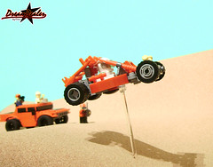 Dune Buggy (the Big Jump) (ZetoVince) Tags: red car greek jump desert lego offroad dune vince racing vehicle kart minifig cart buggy npu zeto foitsop zetovince dreamdealer