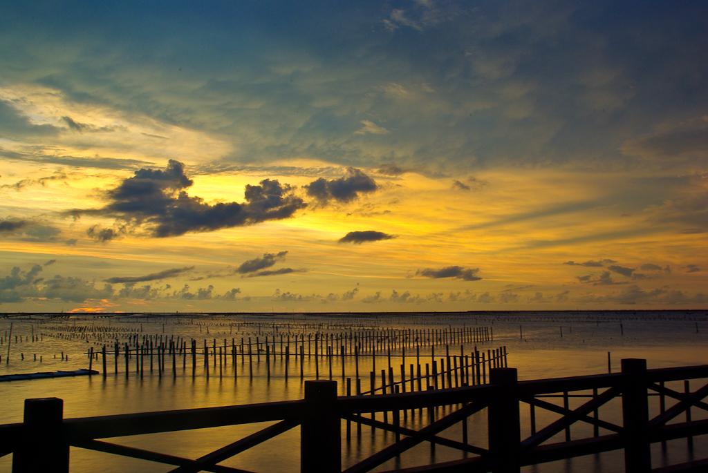 [分享]台南七股觀海樓夕陽