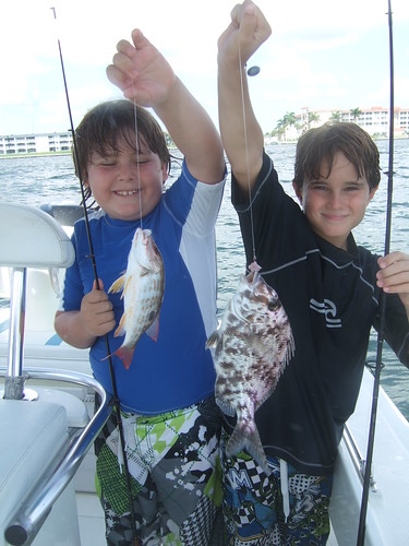 Max and Everett catch fish