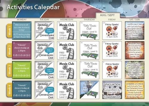 Events calendar August - September