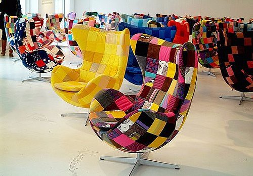 Patchwork Womb Chairs
