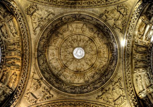 Seville cathedral sacristy ceiling. Techo de la sacristía de la catedral de Sevilla.