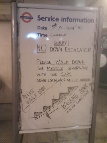 TFL whiteboard @ Maida Vale  by whatleydude