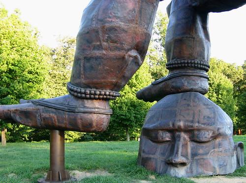 Close-Up, Portion of Three-Legged Buddha