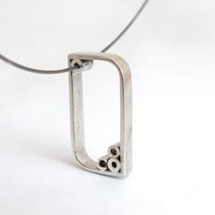 Soap bubbles Pendant (.🇲🇺. urban jewelry) Tags: modern silver bubbles jewelry metalwork minimalist pendant jewel