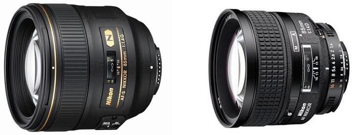 Nikon 85mm f/1.4G AF-S vs Nikon 85mm f/1.4D AF