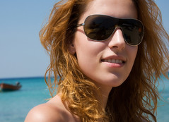Summer (Faddoush) Tags: summer portrait beach girl smile boat nikon hellas greece macedonia halkidiki