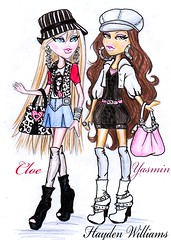 Bratz 2010: Talking Cloe & Yasmin (Fashion_Luva) Tags: fashion illustration williams hayden yasmin talking bratz 2010 cloe mgae