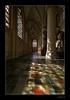 Reflections in orange and yellow. (crispin52) Tags: church reflections belgium gothic creative moment mechelen creativemoment stainedglassolvoverdedijlechurchmechelenbelgiumreflection